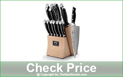Nanfang Brothers 15-Piece Kitchen Knife Set with Block