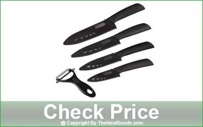 Wolf War 5-Piece Ceramic Knife Set with Sheaths