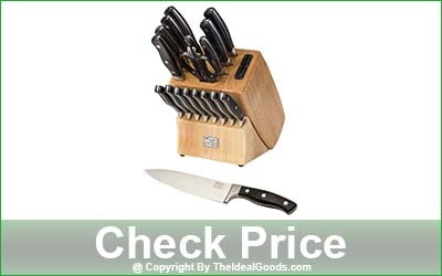 Chicago Cutlery Insignia2 18-Piece In-Block Sharpener Kitchen Knife Set