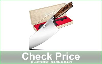 Kiaitre Meat Cleaver Knife - 7-Inch Blade