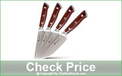 Supinity 4-Piece Damascus Non-Serrated Steak Knife Set