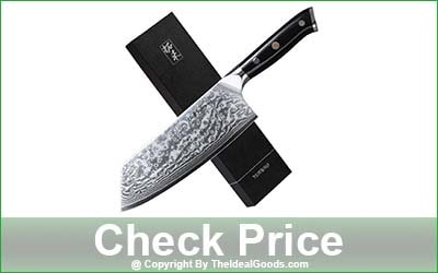 TURWHO Meat Vegetable Cleaver Knife - 7-Inch Blade