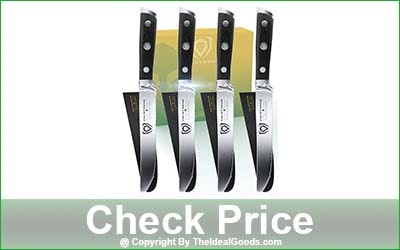 DALSTRONG Gladiator Series 4-Piece Serrated-Edge Blade Steak Knives