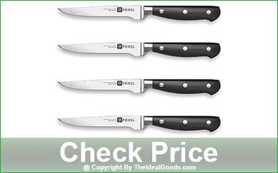 FOXEL 4 Piece Straight Edge Steak Knife Set